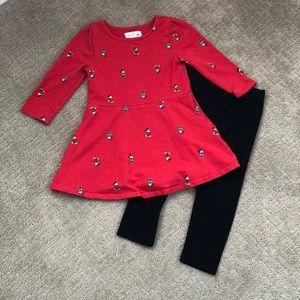 BabyGAP Disney Mickey Terry Dress w/ Black Legging